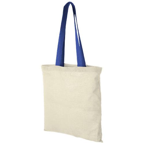Mulepose med tryk, farvet hank, model Nevada kongeblå