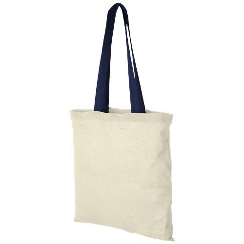 Mulepose med tryk, farvet hank, model Nevada marineblå