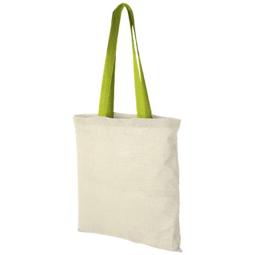 Mulepose med tryk, farvet hank, model Nevada lime