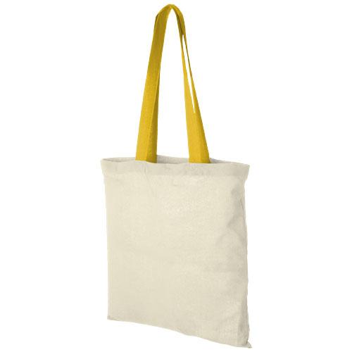 Mulepose med tryk, farvet hank, model Nevada gul