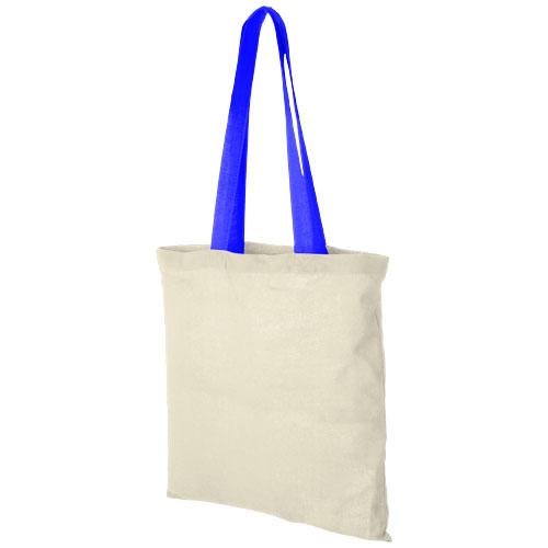 Mulepose med tryk, farvet hank, model Nevada procesblaa