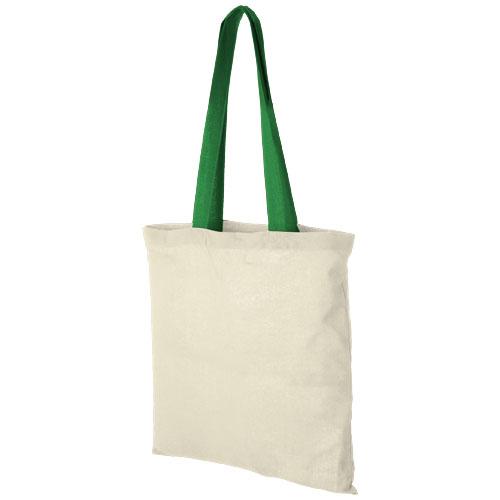 Mulepose med tryk, farvet hank, model Nevada gron