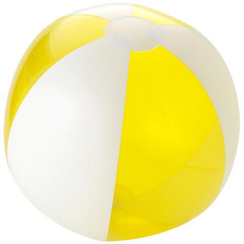 Badebold med logo, model Bondi gul
