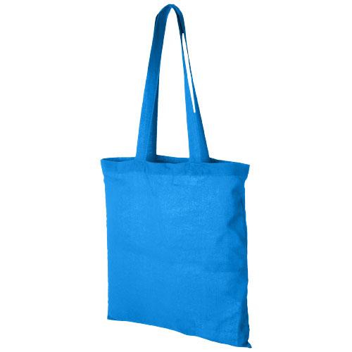 Mulepose med tryk model Carolina grå blå