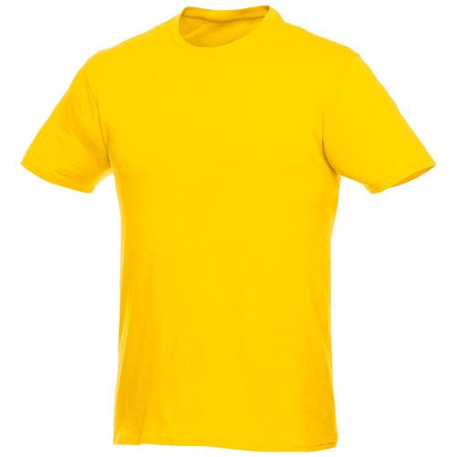 Basis t-shirt med logo, herre, model Hero gul