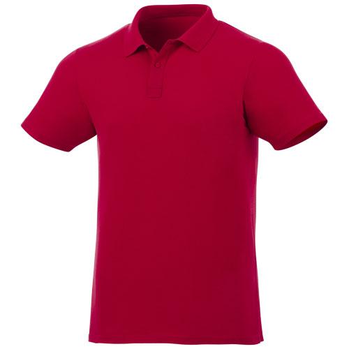 Basis polo med logo, OEKO-TEX piqué, model Liberty rød