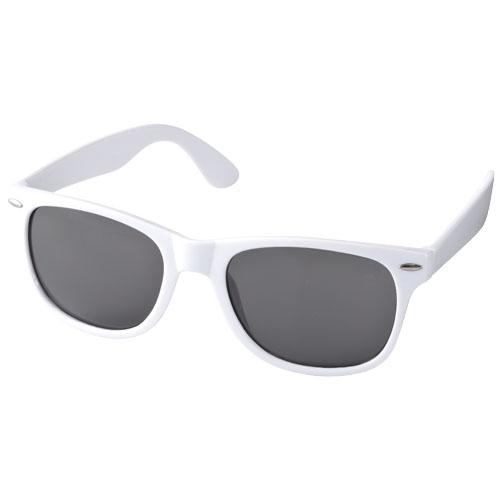 Solbriller med logo, model Sun Ray hvid
