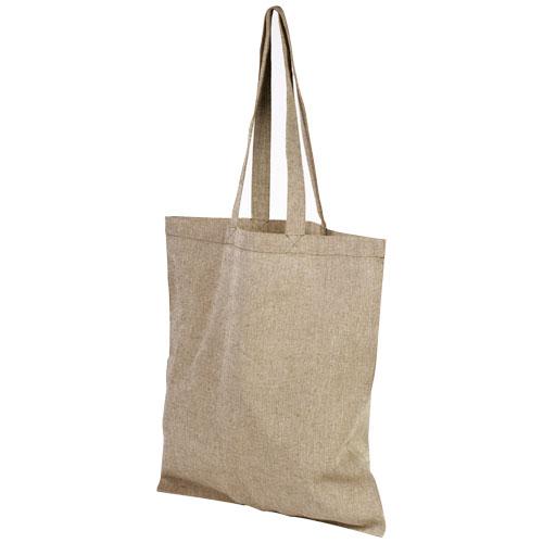 Mulepose med tryk, genbrugsbomuld, model Pheebs natur