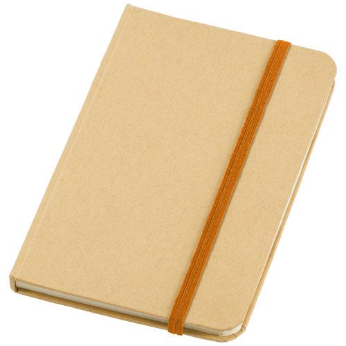 Notesbog med tryk, A6, hardcover, model Dictum orange