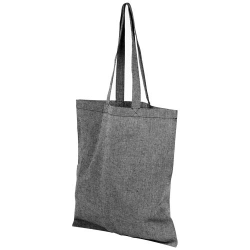 Mulepose med tryk, genbrugsbomuld, model Pheebs sort