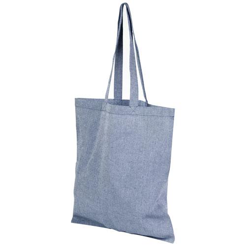 Mulepose med tryk, genbrugsbomuld, model Pheebs blaa