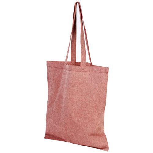Mulepose med tryk, genbrugsbomuld, model Pheebs rod
