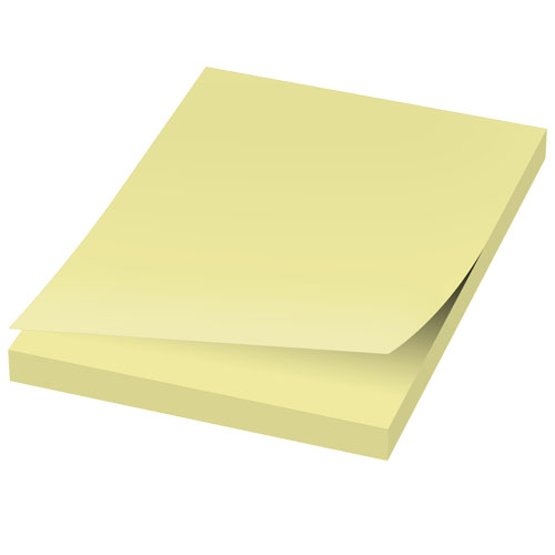 Sticky notes med logo, model Sticky-Mate gul