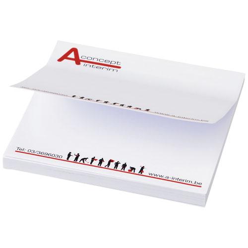 Sticky notes med logo, kvadratisk, model Sticky-Mate hvid