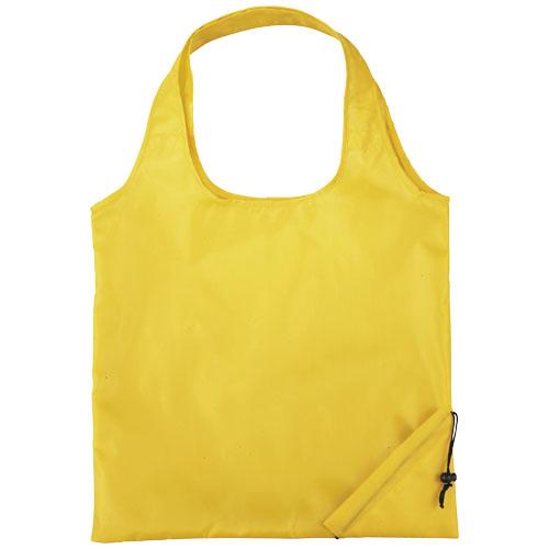 Shopper taske med tryk, foldbar, model Bungalow gul
