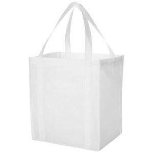 Indkøbspose med tryk, model Liberty hvid