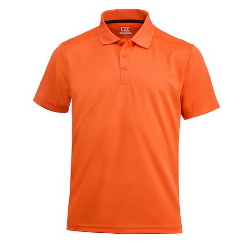 Sports polo med logo, model Kelowna, Cutter&Buck orange