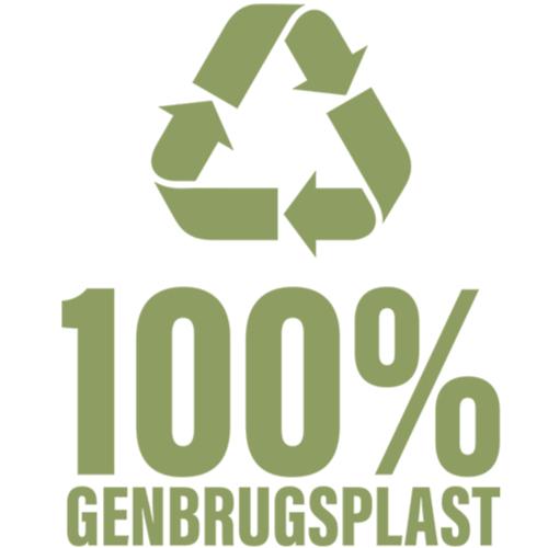 100 procent genbrug logo