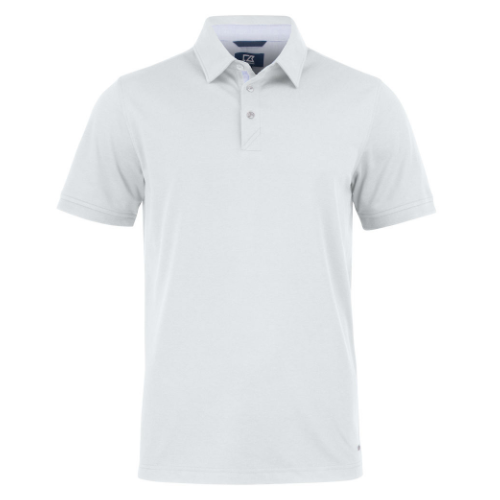 Sports polo med logo, model Advantage Premium, Cutter&Buck hvid