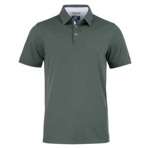 Sports polo med logo, model Advantage Premium, Cutter&Buck pistol grå