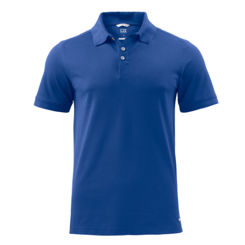 Sports polo med logo, model Advantage, Cutter&Buck blaa