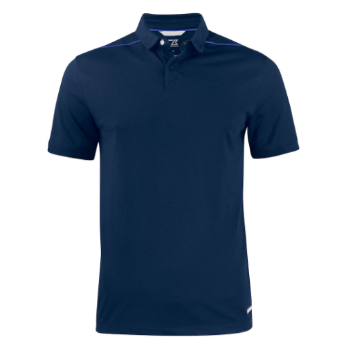 Sports polo med logo, model Advantage Perform, Cutter&Buck navy