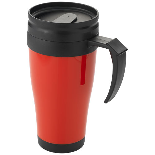 Termokrus med logo, 400 ml, model Daytona rød