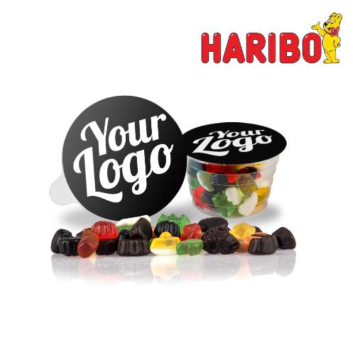 Haribo Click Mix i bæger med logo