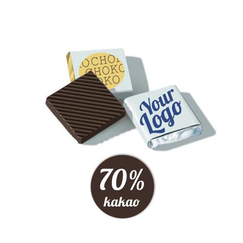 Chokolade med tryk, kvadrat, Fairtrade