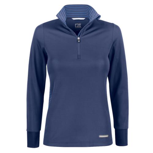 Sports trøje med logo, model Traverse, Cutter&Buck blå