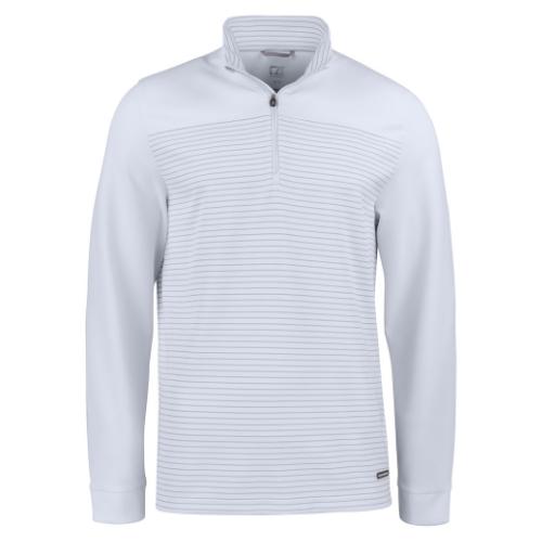 Sports trøje med logo, model Traverse, Cutter&Buck hvid