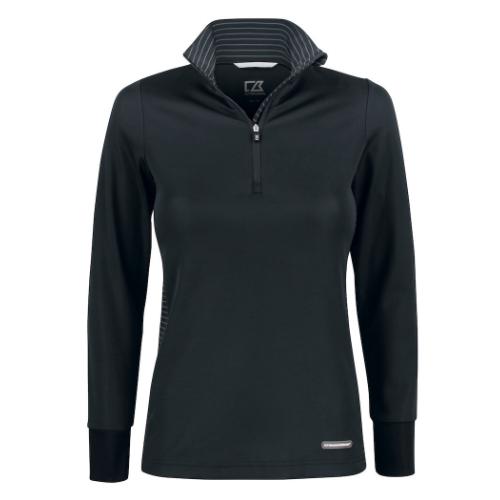 Sports trøje med logo, model Traverse, Cutter&Buck sort