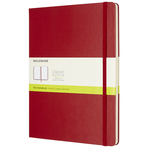 Moleskine notesbog med logo, 19x25 cm, model Classic XL rød