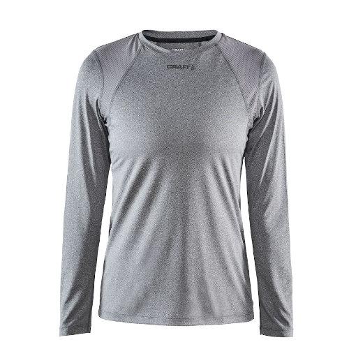 Langærmet t-shirt med logo, genbrugsmateriale, herre, model ADV Essence LS, Craft grå