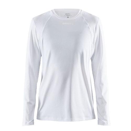 Langærmet t-shirt med logo, genbrugsmateriale, herre, model ADV Essence LS, Craft hvid