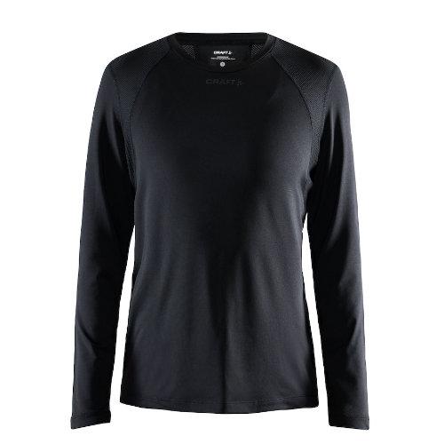 Langærmet t-shirt med logo, genbrugsmateriale, herre, model ADV Essence LS, Craft sort