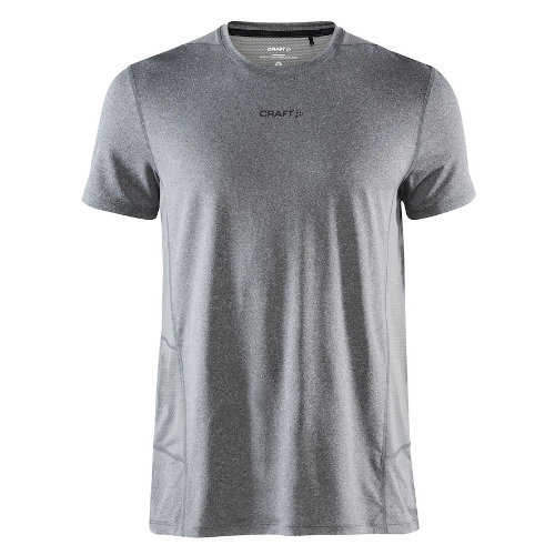 Løbe t-shirt med logo, genbrugsmateriale, herre, model ADV Essence SS, Craft grå