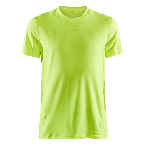 Løbe t-shirt med logo, genbrugsmateriale, herre, model ADV Essence SS, Craft neon gul