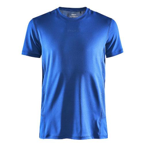Løbe t-shirt med logo, genbrugsmateriale, herre, model ADV Essence SS, Craft kongeblå