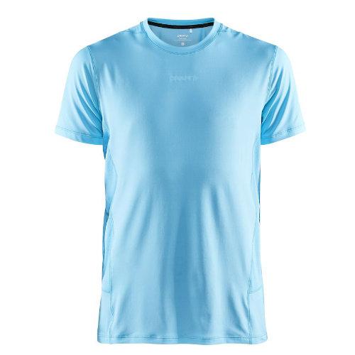 Løbe t-shirt med logo, genbrugsmateriale, herre, model ADV Essence SS, Craft lys blå