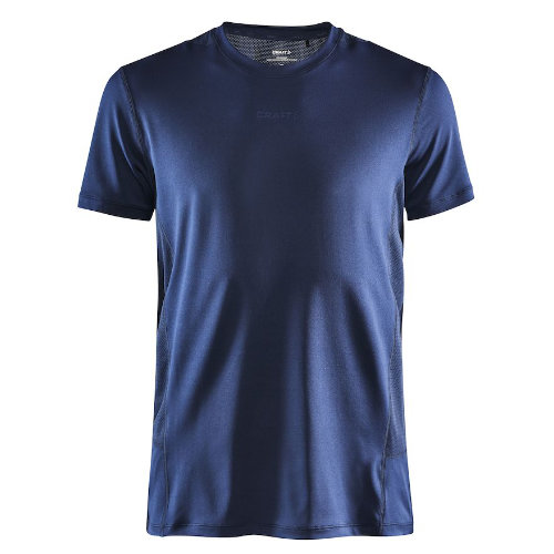 Løbe t-shirt med logo, genbrugsmateriale, herre, model ADV Essence SS, Craft navy