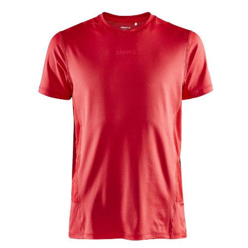 Løbe t-shirt med logo, genbrugsmateriale, herre, model ADV Essence SS, Craft rød