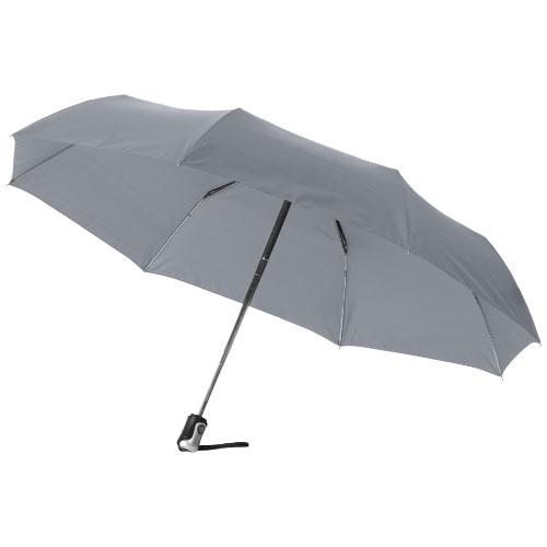 Paraply med logo model alex grå