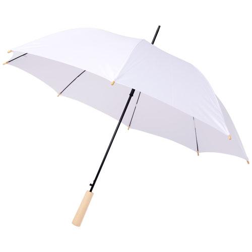 Paraply med logo model Alina RPET hvid