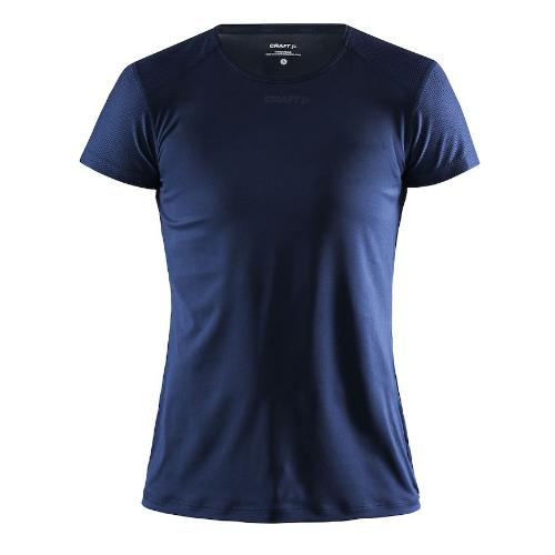 Løbe t-shirt med logo, genbrugsmateriale, dame, model ADV Essence SS, Craft navy