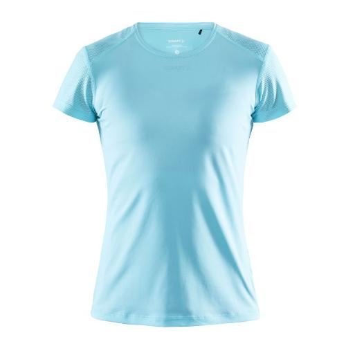 Løbe t-shirt med logo, genbrugsmateriale, dame, model ADV Essence SS, Craft lyseblå sea