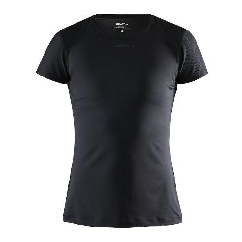Løbe t-shirt med logo, genbrugsmateriale, dame, model ADV Essence SS, Craft sort