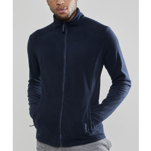 Fleecejakke med logo, herre, model Casual Fleece, Craft navy