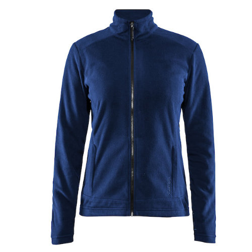 Fleecejakke med logo, dame, model Casual Fleece, Craft navy