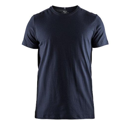 T-shirt med logo, herre, model Deft 2.0, Craft navy